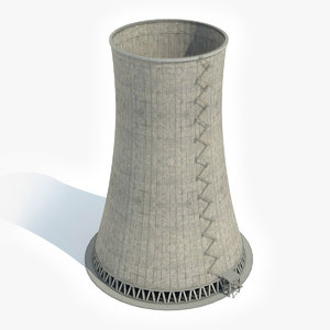 nuclear cooling tower 3D model