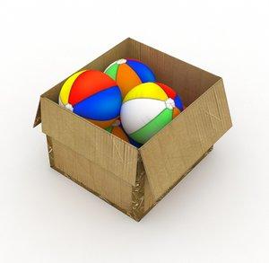 3D model ball box