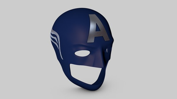 helmet america captain 3D model