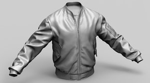 m1 flight jacket 3D model