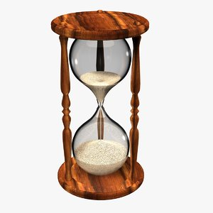 3D realistic old hourglass model