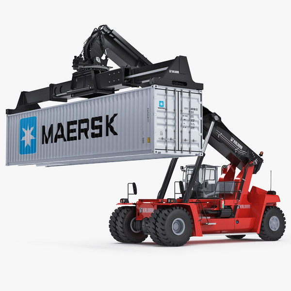 reachstacker kalmar rigged 3D model