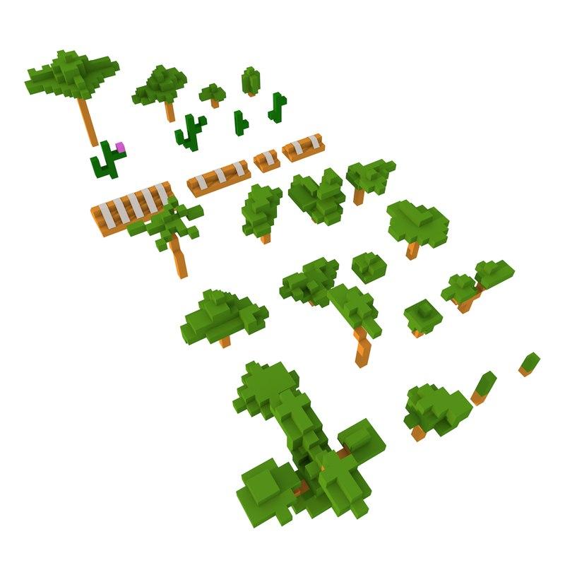 3D tree pack model