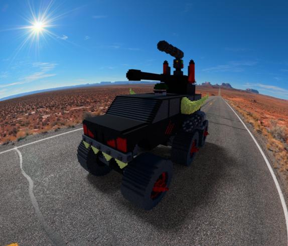 monster truck tank 3D model