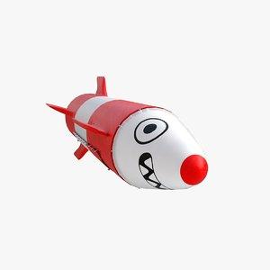 cartoon missile model