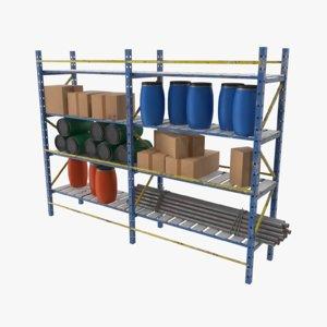 pallet rack 3D