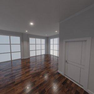 3D modern interior scene