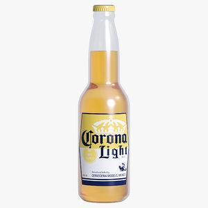 3D corona light beer