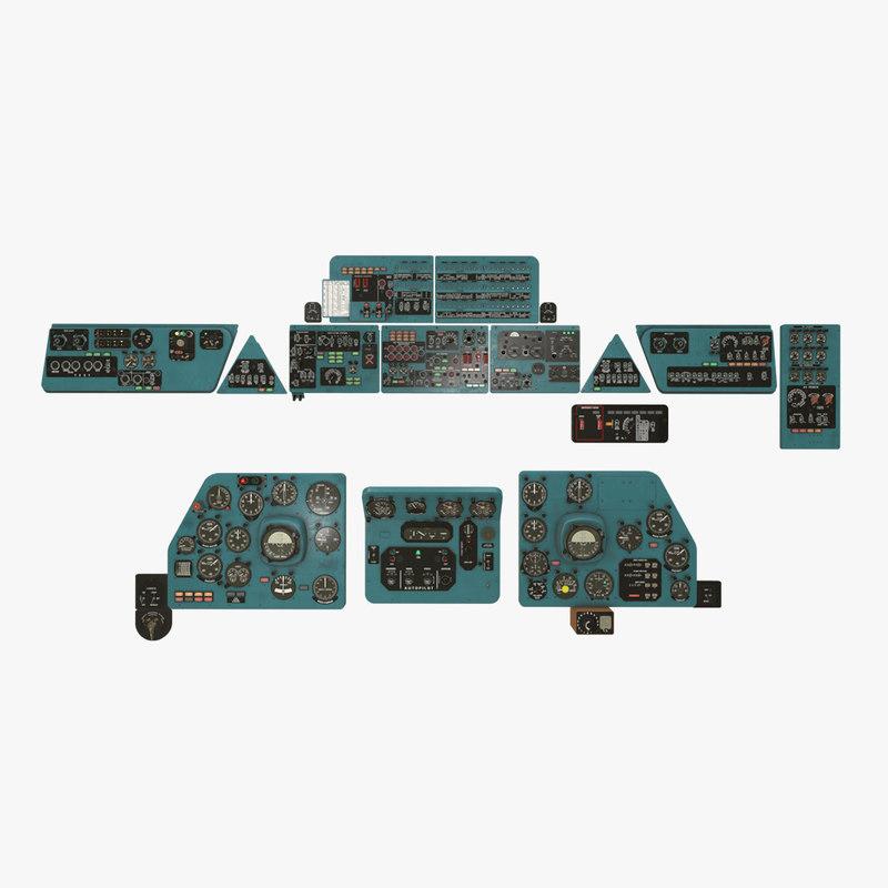 panels boards mi-8mt mi-17mt model