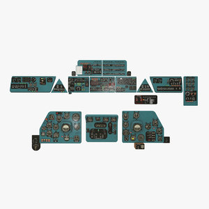 panels boards mi-8mt mi-17mt model