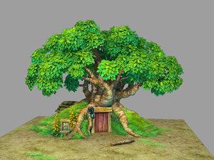 plant - tree house model