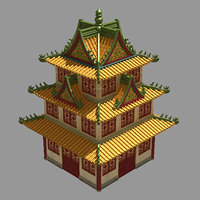 3D ancient chinese architecture - model