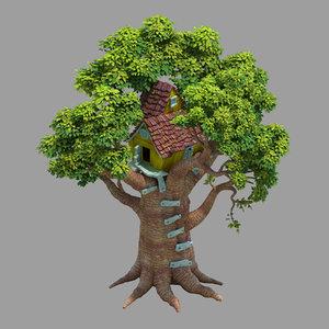 plant - tree house 3D model