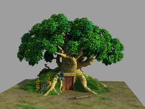 plant - tree house 3D model