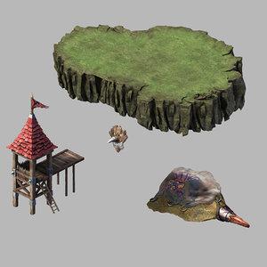 steam harbour - camp 3D model