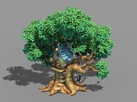 3D model plant - tree house