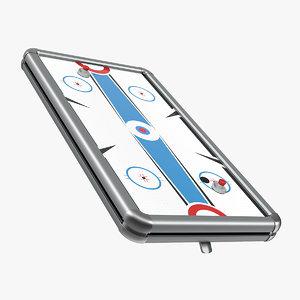 air hockey tabletop table 3D model