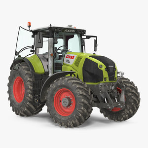 3D claas axion tractor interior model