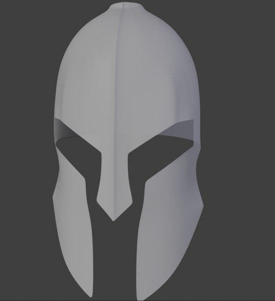 3D spartan helmet