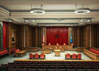 3D courtroom court room