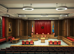 3D courtroom court room