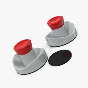 air hockey pushers puck 3D model