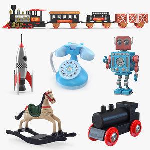 retro toys 3D model