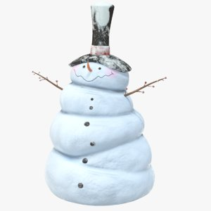 snowman snow man 3D