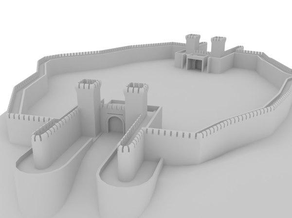 3D castle dae