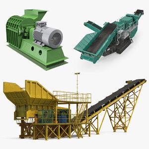crusher machines 3D model