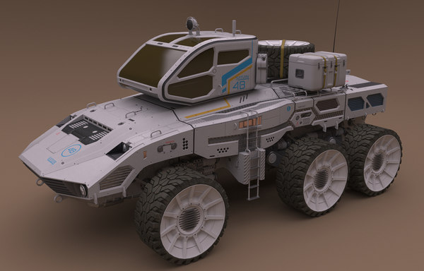 3D model vehicle rover saturn