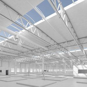 3D market markethall hall model