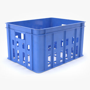 plastic bottle crate model
