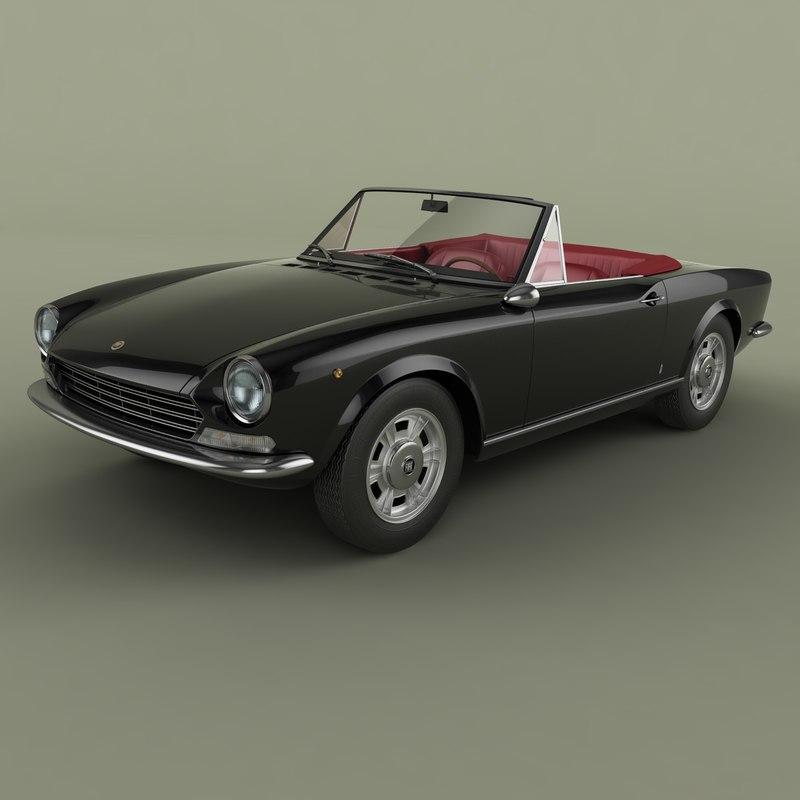 1967 Fiat 124 Spider 3D Model
