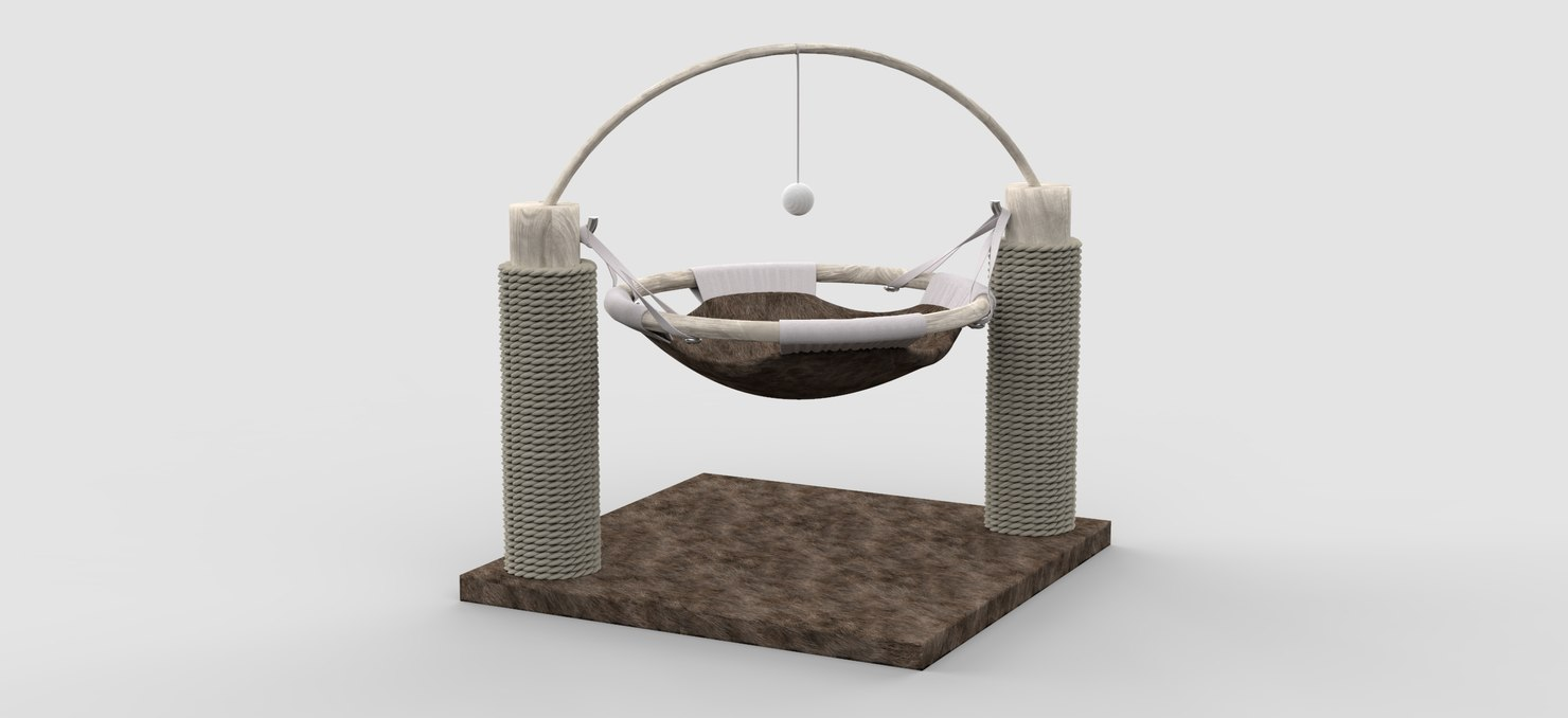 cat bed playground 3D model