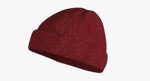3D beanie hat model