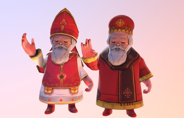 saint valentine western eastern 3D model