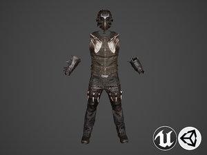 war knight armor suit 3D model