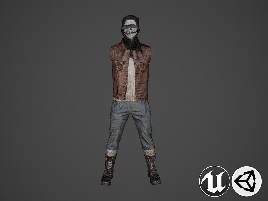 3D suit clothing