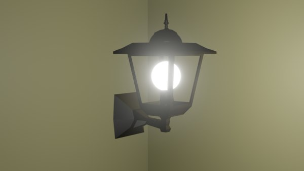 simple outdoor lamp 3D