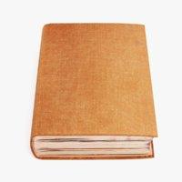 blank book 3D model