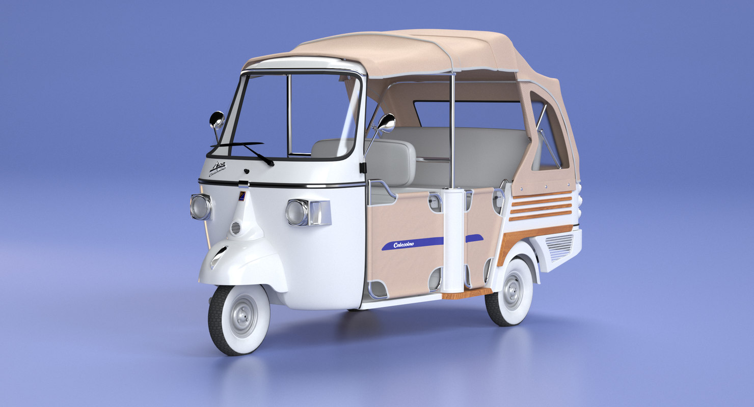 3D model ape calessino piaggio