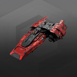3D commander ship gb7 model
