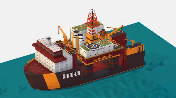 3D isometric heavy lift vessel