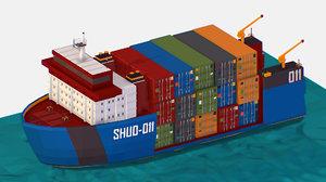 3D isometric heavy lift vessel model
