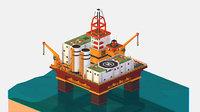 isometric Big Oil Production Rig Platform