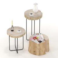 slab stump table 3D model