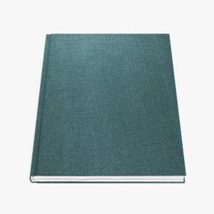 3D blank book 5 model