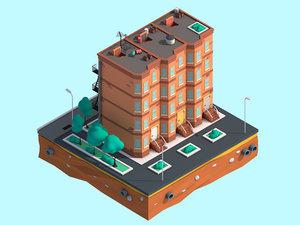 3D model design cartoon brooklyn