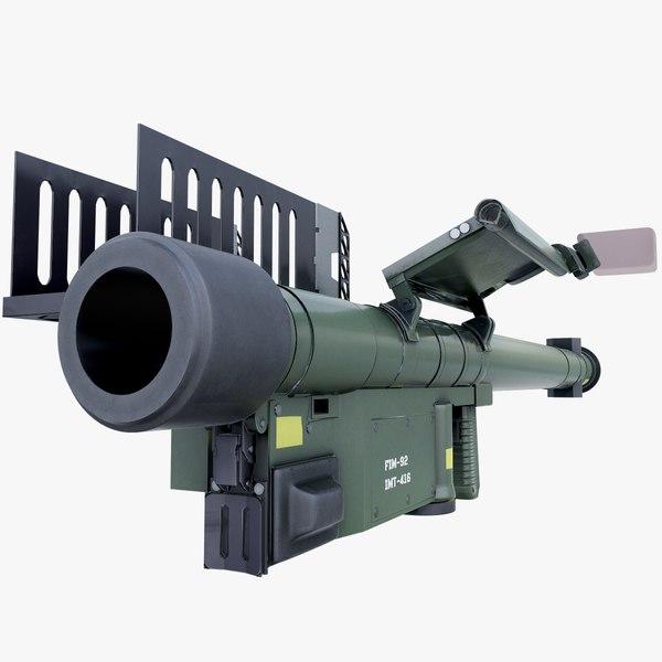 fim-92 stinger missile launcher 3D model